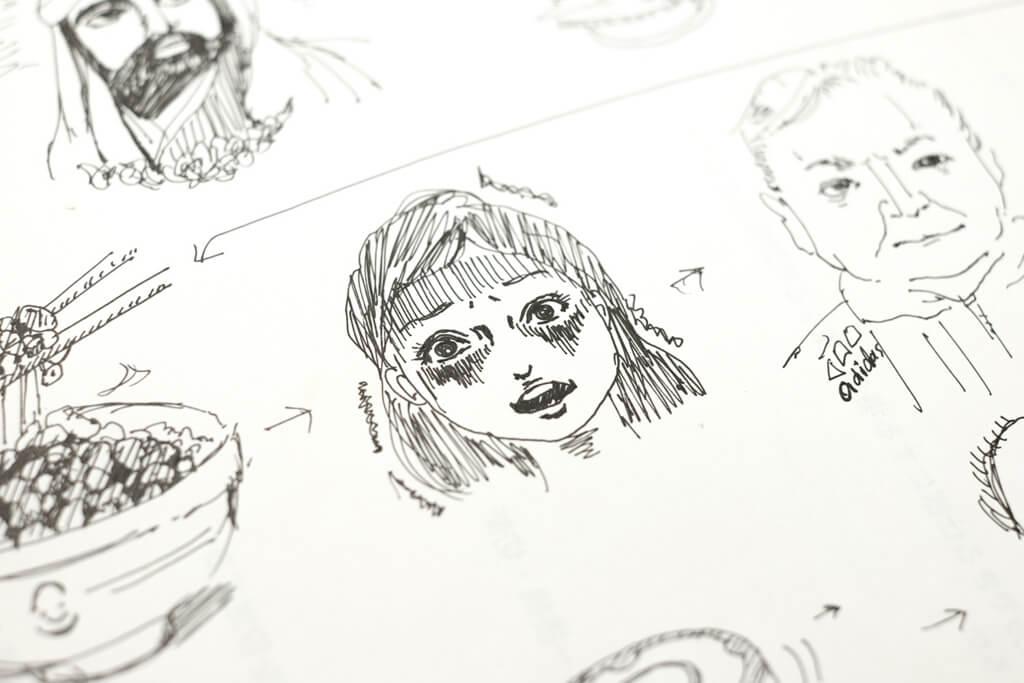 デザイナーが描いたお絵描きしりとり6