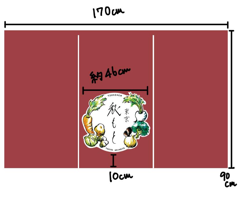 ラーメン店ののれんをデザインしました5