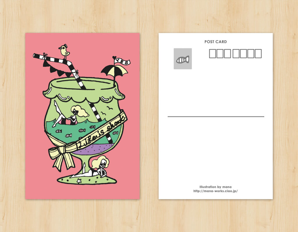 オリジナルイラストポストカードデザイン2