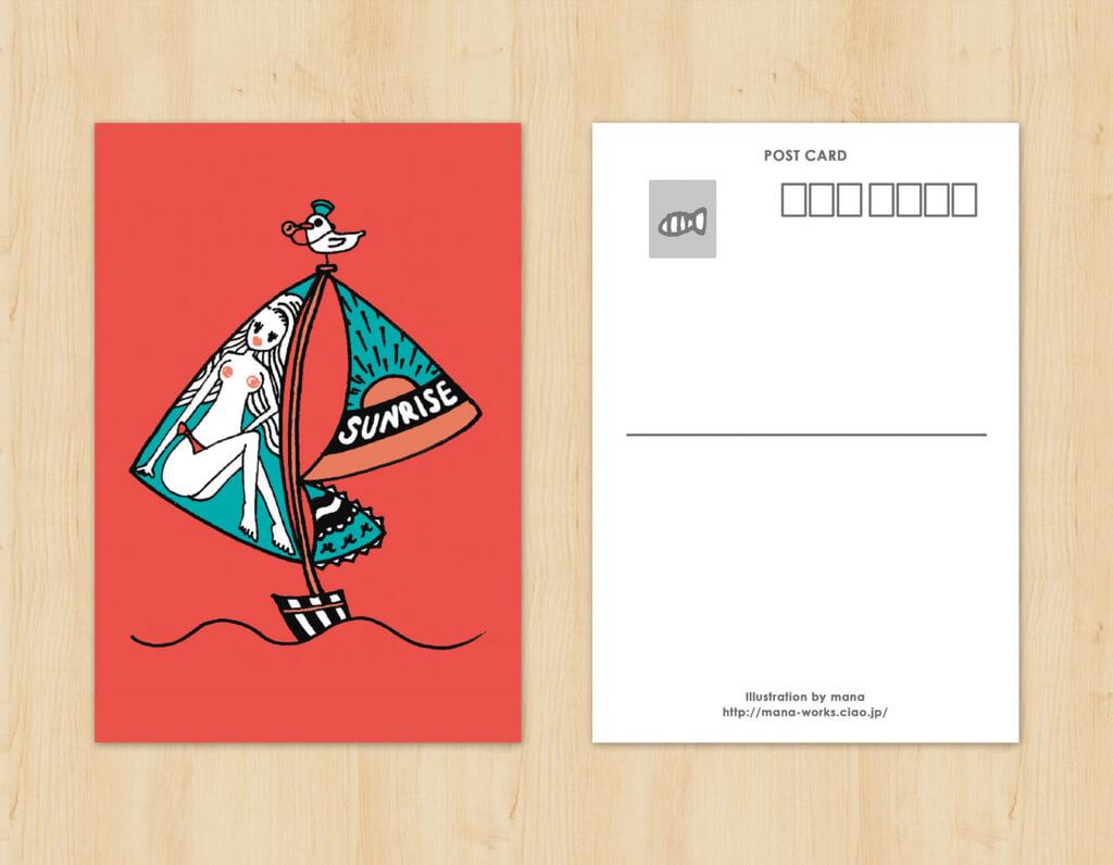 オリジナルイラストポストカードデザイン1