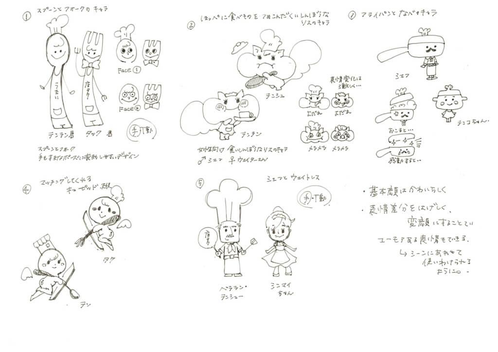 キャラクターデザイン1